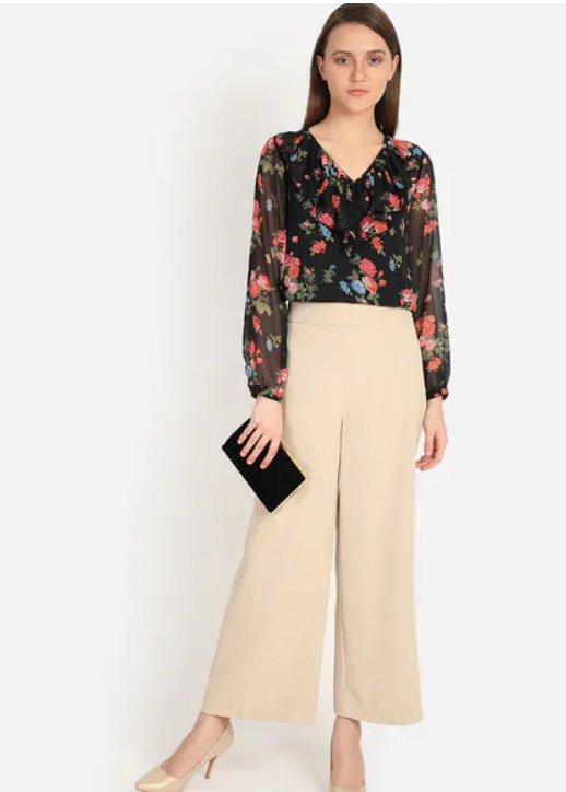 extured Wide Leg Trousers 2